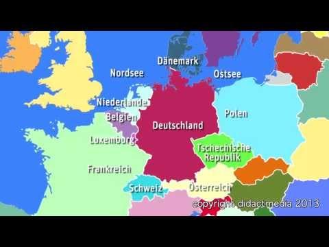 Europa im �berblick - der Westen - Deutschland - viele Nachbarn, gro�e Städte