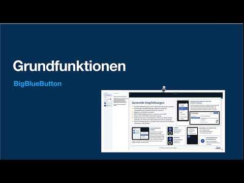Grundfunktionen von BigBlueButton