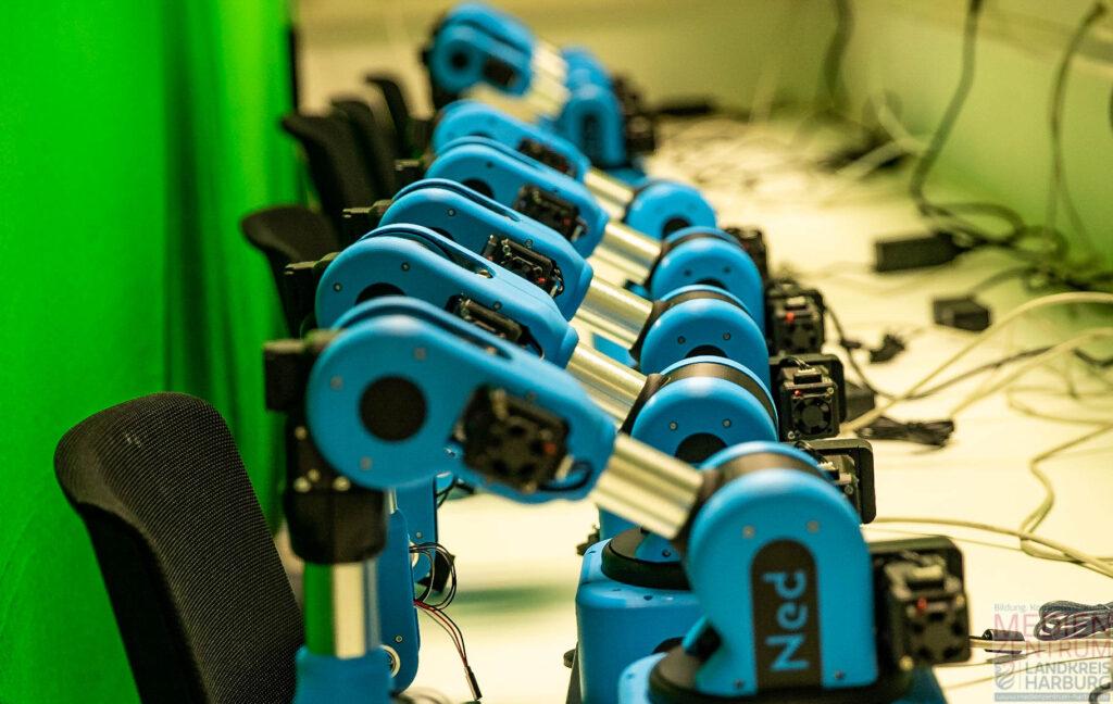 Niryo Ned Roboter - ein Fuhrpark aus 15 Geräten wir im Digitallabor vorhanden sein