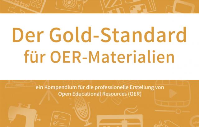 """Screenshot Cover """"Der Goldstandard für OER-Materialien"""" (Buch lizenziert unter CC BY 4.0, Blanche Fabri, Gabi Fahrenkrog, Jöran Muuß-Merholz (Hrsg.))"""